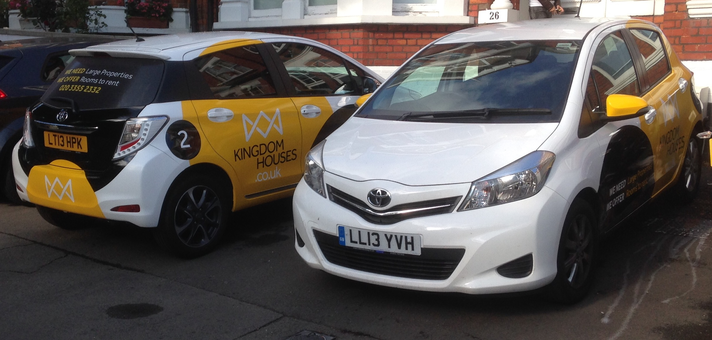 Yaris cars branded